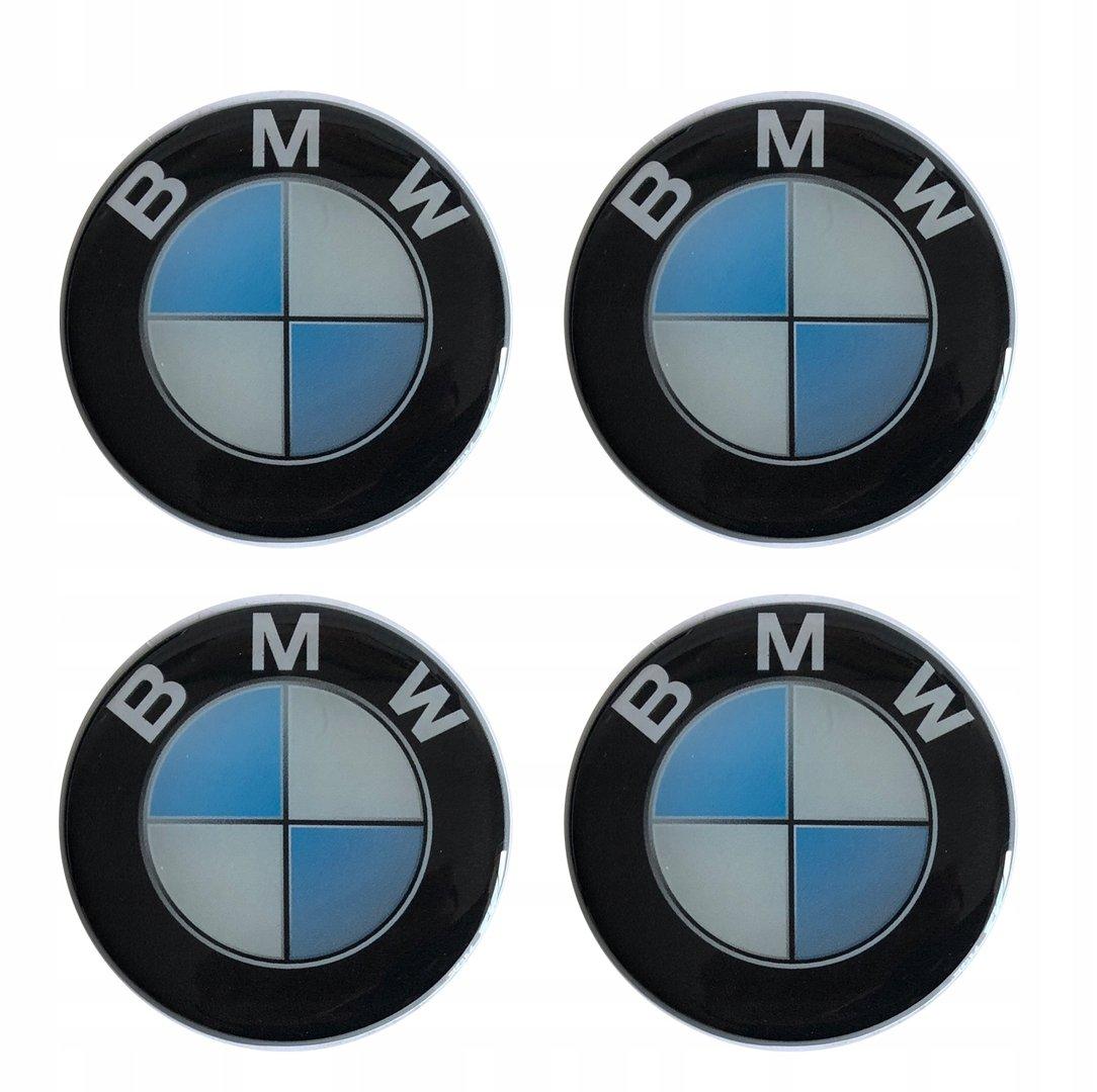 4 x bmw emblem hell blau felgen aufkleber logo nabendeckel nabenkappe radkappe 4 x 56 mm teile. Black Bedroom Furniture Sets. Home Design Ideas