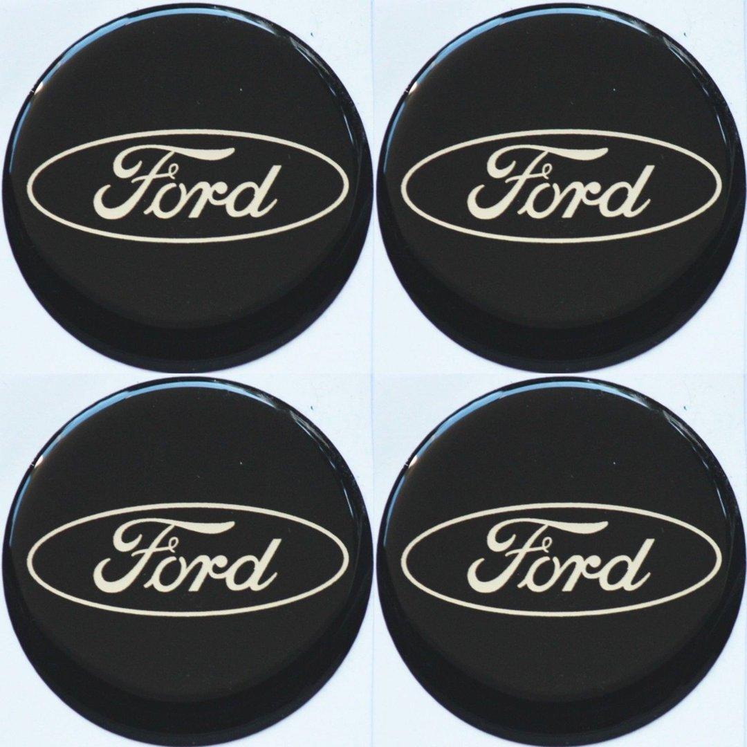 4 x ford emblem schwarz felgen aufkleber logo nabendeckel. Black Bedroom Furniture Sets. Home Design Ideas