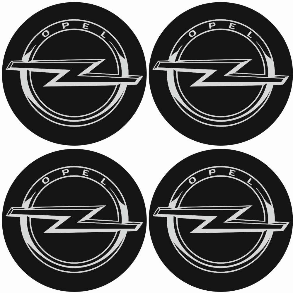 4 X Opel Emblem Felgen Aufkleber Logo Nabendeckel Nabenkappe Radkappe 4 X 56 Mm