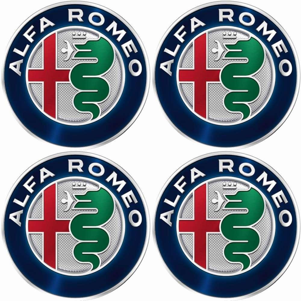 4 X Alfa Romeo Emblem Felgen Aufkleber Logo Nabendeckel Nabenkappe Radkappe 56 Mm