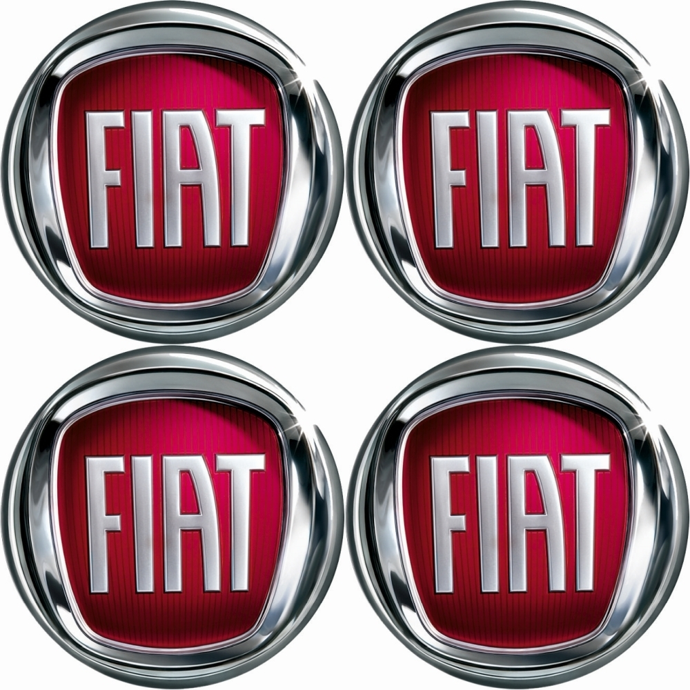 4 x fiat emblem rot felgen aufkleber logo nabendeckel. Black Bedroom Furniture Sets. Home Design Ideas