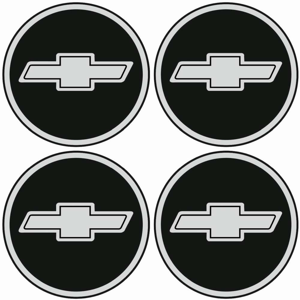 4 X Chevrolet Emblem Felgen Aufkleber Logo Nabendeckel Nabenkappe Radkappe 4 X 56 Mm