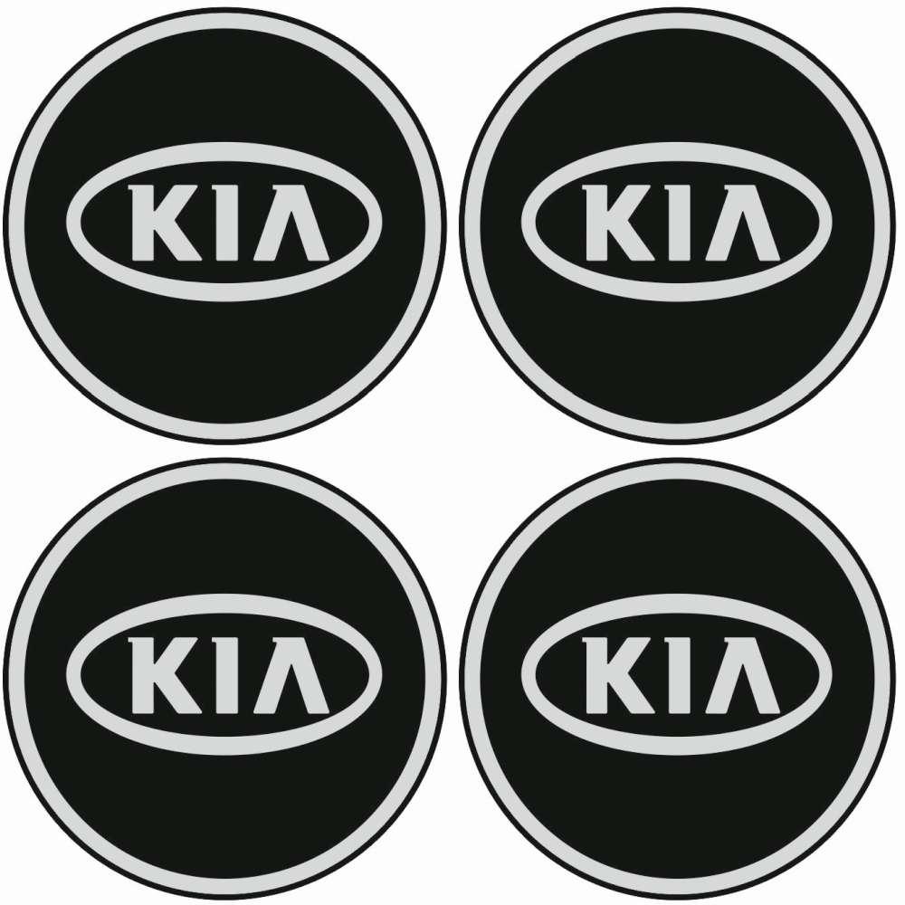 4 X Kia Emblem Felgen Aufkleber Logo Nabendeckel Nabenkappe Radkappe 4 X 56 Mm